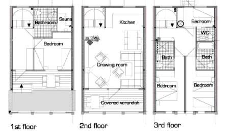 7 кроватей в 4 спальнях