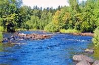 Река Сунна, после водопада